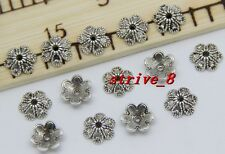 Lot 30/100/500pcs Tibetan Silver Flower Bead Caps Jewelry Charms Beads Cap 9x3mm