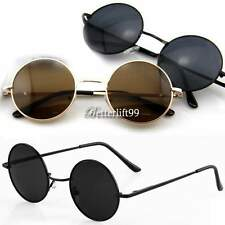 Men Women Round Metal Frame Sunglasses Glasses Eyewear Vintage Retro NEW BF9