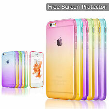 Clear Soft Rubber TPU Silicone Jelly Glossy Case Cover for iPhone 5 SE 6 S Plus