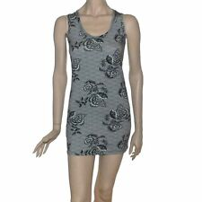 CONNECTED GENERATION LACE PRINT STRETCH VEST TOP SHORT TUNIC/DRESS BNWT