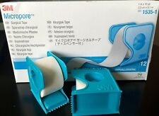 """3M Micropore PAPER Medical Tape WITH DISPENSER 1"""" x 10 yds - 1 to 12 Rolls"""