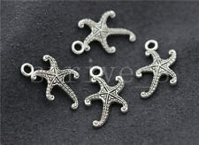 15/60/300pcs Tibetan Silver Lovely starfish Jewelry Charms Pendant DIY 19x13mm