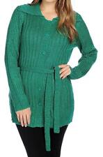 NEW OSO Casuals Marled Knit Self Belted Button Front Cardigan Sweater S, M, L