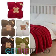 New Supersoft Cosy Fleece Blanket Throw Home Sofa Winter Throws Soft Blankets