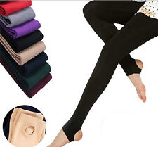 Winter Casual Thick Stretch Skinny Tight Warm Stirrup/Footless Leggings Pants
