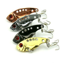 1/4pcs New 6# Metal Sequin Fishing Lures Bass Spoon Crank Bait Tackle Hook