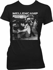 John Mellencamp Sitting Photo with Bike Junior Women's T-Shirt SM, MD, LG, XL Ne