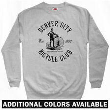 Denver Bicycle Club Sweatshirt - Bike Cycling Vintage Cycle Crewneck - Men S-3XL