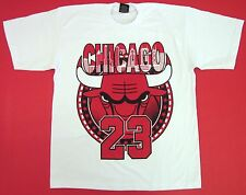 BULLS T-shirt Chicago Basketball Air Jordan MJ23 Tee Mens Adult M-4XL White New