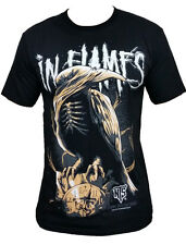 In Flames raven fashion rock band funny design graphic t-shirt tee top Size M L