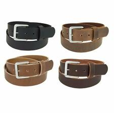 "Genuine Buffalo Leather Belt_1 1/2"" wide_Amish Handmade_Chrome Finish Buckle_132"