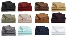 1000 TC Egyptian Cotton Bedding Items Sheet Set/Fitted Sheet/Pillow Cover Solid