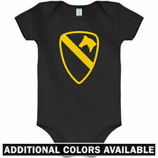1st Cavalry One Piece - US Army Military Baby Infant Creeper Romper - NB to 24M