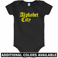 Alphabet City Gothic One Piece - New York Baby Infant Creeper Romper - NB to 24M