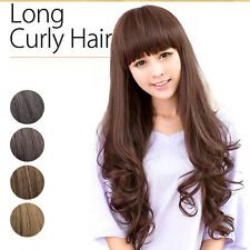 New Fashion Sexy Women Long Wavy Curly Hair Cosplay Costume Party Full Wigs