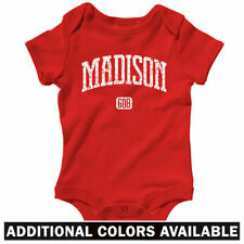 Madison 608 Wisconsin One Piece - UW Badgers Baby Infant Creeper Romper NB-24M