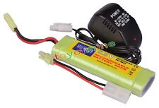 1x 9.6V NiMH 2800mAh Rechargeable Battery Pack For RC Airsoft + Charger