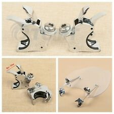 Quick Detach Windshield Wind Screen Clamps For 39mm Fork Harley Dyna Sportster