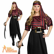 Pirate Maiden Costume Ladies Sexy Woman Fancy Dress Outfit New UK 10-14