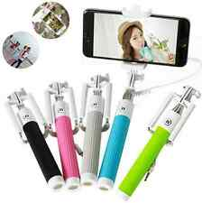 Handheld Wired Remote Extendable Selfie Stick Monopod for iPhone 4 5 6 6S Plus C