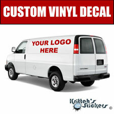Large Custom Text or Your Company Logo Vinyl Decal fits cars, cargo vans + more