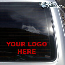Small Custom Text or Your Company Logo Vinyl Decal fits cars, laptops + more