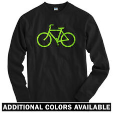 Bike Route Long Sleeve T-shirt LS - Bicycle Cycling Cyclist Fixie - Men / Youth