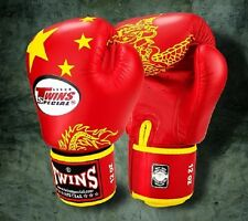 TWINS SPECIAL MUAY THAI BOXING GLOVES CHINA FLAG 8oz 10oz 12oz 14oz 16oz