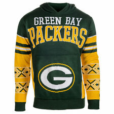 Forever Collectibles NFL Green Bay Packers Big Logo Ugly Sweater Pullover Hoodie