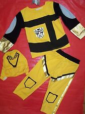 BRAND NEW BOYS TRANSFORMER BUMBLEBEE COSTUMES SIZE 1 TO 8