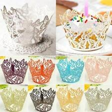 12Pcs Butterfly Muffin Cupcake Wrapper Wrap Case Wedding Birthday Party Decor