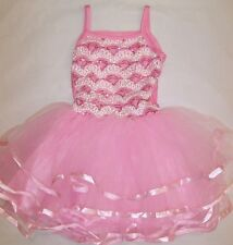 BNWT GIRLS SEQUIN EMBROIDERED PARTY DRESS - SIZE 2 - 8  HOT PINK/ PINK/RED
