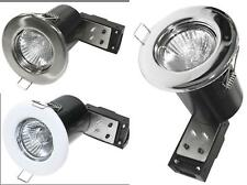 10 X FIRE RATED GU10 DOWNLIGHTS FIXED RECESSED CEILING  LIGHTS 240V MAINS