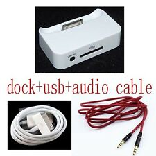 audio Dock Cradle Charger Docking Station cable for  Apple iPhone 3GS 3G 2G
