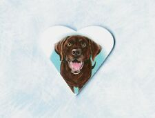 Chocolate Lab Pendant Or Brooch Labrador Retriever Jewelry Necklace Pin Heart