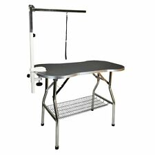 """Heavy Duty Stainless Steel Pet Dog Cat Portable Grooming Table w/ Arm 32 X 21"""""""
