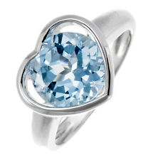 4.5 Ct Genuine Sky Blue Topaz Round 10mm Solid 925 Sterling Silver Ring Sz 8.25
