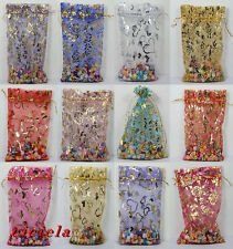 20Pcs 13 Colors Organza Jewelry Packing Pouch Wedding Favor Gift Bags 13X18cm