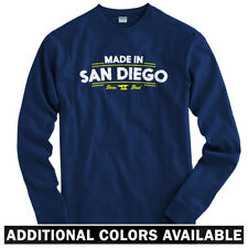 Made in San Diego V2 Long Sleeve T-shirt LS - Cali Sharks Padres - Men / Youth