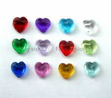 Heart 4mm Crystal Mixed Floating Birthstone Charms For Memory Locket BS005_Mix