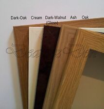 WOOD WOODEN PICTURE POSTER PHOTO FRAMES 10 VARIOUS COLOURS SIZES Stand Wall Hang