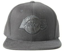 Los Angeles Lakers Adult Mitchell & Ness Blacked out High Crown Fitted Black Hat