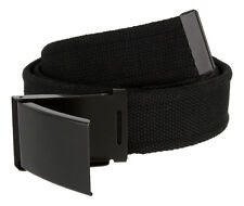 Canvas Fabric Adjustable Military Web Belt with Gunmetal Buckle