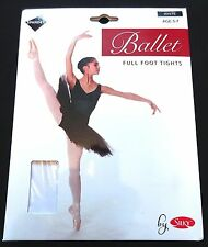 Silky Girls Childrens Ballet Full Foot Tights in 3 Colours Ages 3 up to 13