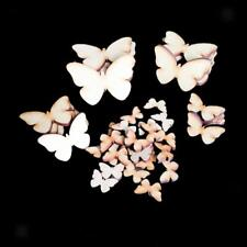 50 Wooden Wood Butterfly Pieces Painting Craft Cardmaking Scrapbooking Laser Cut