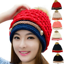 New Lovely Autumn And Winter Fashion Wool Hat Knitted Hat Women Soft Warm Cap