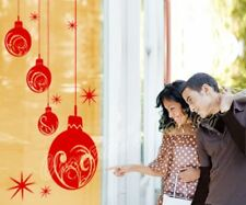 Huge Christmas Balls Show Window Shop Decoration Wall Art Large Sticker Decal