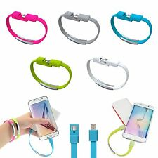 Wrist Bracelet Micro USB Data Sync Charger Cable For Samsung Galaxy Note S6 edge