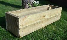 Large Decking Planters, wood garden planters Free P&P Wood trough Handmade