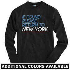 Return to New York Long Sleeve T-shirt LS - NYC City Brooklyn Queens Men / Youth